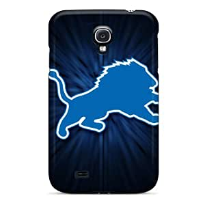 Perfect Cell-phone Hard Covers For Samsung Galaxy S4 With Custom Vivid Detroit Lions Skin KerryParsons