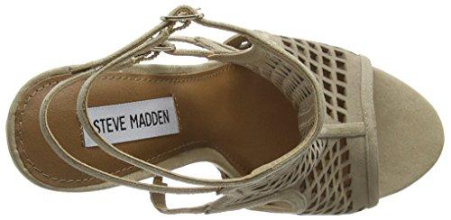 Steve Madden Maylin Suede, Scarpe con Tacco a Punta Aperta Donna Beige (Natural)