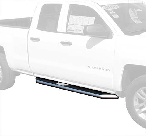 MaxMate Premium Truck Running Boards for 2007-2017 Chevy Silverado/GMC Sierra 1500; 2007-2015 Silverado/Sierra 2500/3500 Ext/Double Cab (Excluding Diesel Models with DEF Tanks)