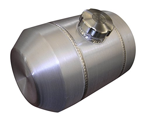 6x20 Center Fill Spun Aluminum Gas Tank - Motorcycle Auxiliary - 2 Gallon - Baffle & Vent Tube - Made in the USA!