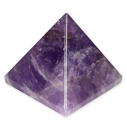 10975 Purpledip Amethyst Gem Stone Pyramid Hand Polished Authentic Natural Healing Rock For Vaastu Feng Shui Positive Energy
