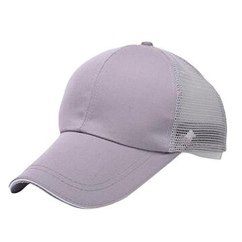 1 y 60CM Exteriores Unisex Negro Algodón 55 Claro de Ajustable Mackur Transpirable para Cómodo Béisbol Sombrero Unidad Gris xqHnZw8v