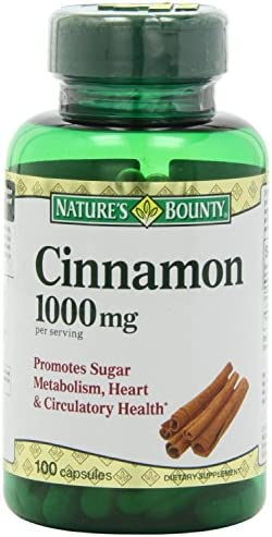Nature s Bounty Cinnamon 1000mg, 100 Capsules Pack of 6