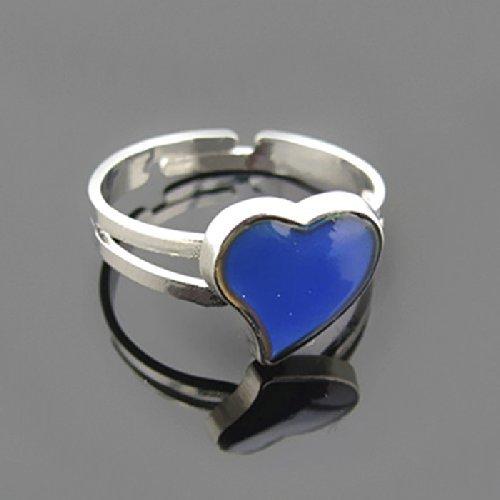 Sun Glower anello regolabile placcato Band cambia colore umore anello a forma di cuore