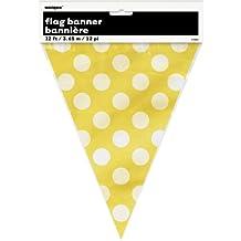 12ft Yellow Polka Dot Pennant Banner