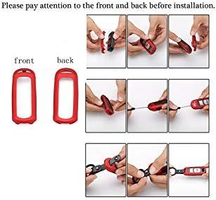 ontto 4 ButtonSmart Car Key Case Shell Holder Metal Keycase Prevent Scratch Fit for Kia Blue