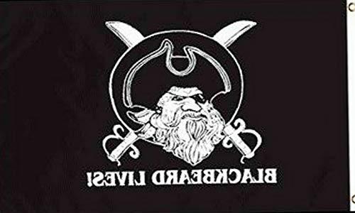 - Kaputar Blackbeard Lives! 3x5ft Pirate Poly Flag - Captain Blackbeard | Model FLG - 7121
