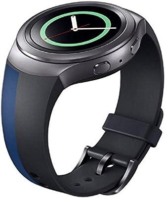 Samsung Galaxy Gear S2 SM-R720 correas para reloj - Sannysis correas para relojes, Silicona, color negro con azul