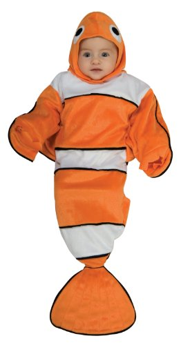Finding Nemo Little Girl Costume (Rubie's Costume Deluxe Baby Bunting, Lil' Guppy, 0 to 9 Months)