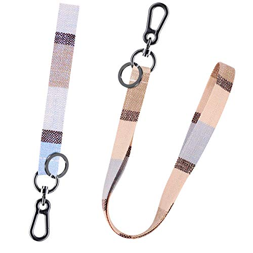 Apor Lanyard Keychain Wrist and Neck Lanyards Key Chain Holder Strap for Men and Women 2 Pieces Light Blue