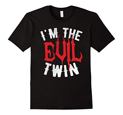 Mens I'm The Evil Twin - Funny Halloween Matching Gift T-Shirt Medium (Good Evil Costumes Ideas)
