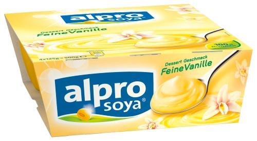 Alpro Soya Dessert feine Vanille, 3er Pack (3 x 500 g Packung)