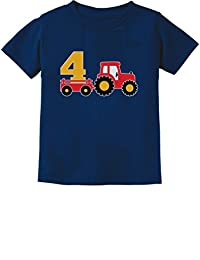 4th Birthday Gift Construction Party 4 Year Old Boy Toddler/Infant Kids T-Shirt