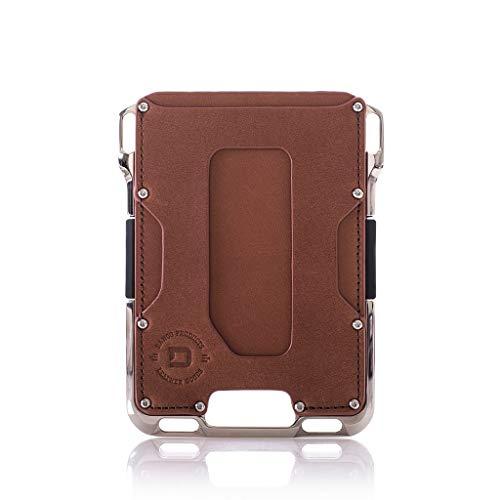(Dango M2 Maverick Wallet - Whiskey Brown/Nickel-Plated Aluminum - Made in USA)