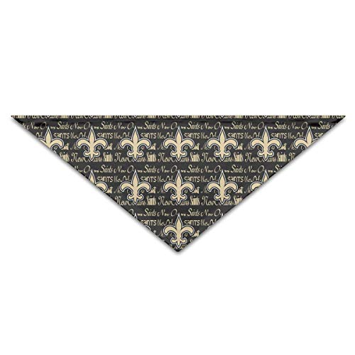 Marrytiny Custom Dog Triangle Pet Scarf New Orleans Saints Football Team Bandana Collars 100% Polyester Pet Dog Cat Bibs Triangle Head Scarfs Accessories
