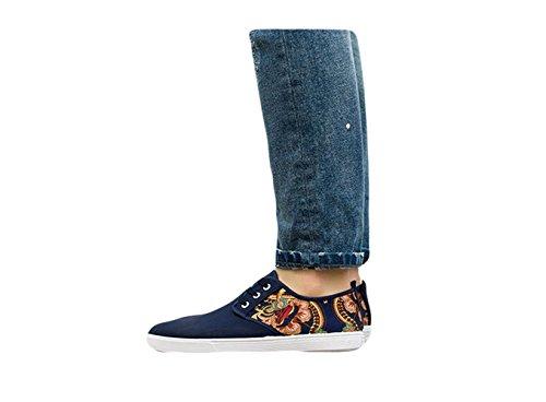Ein Bißchen Herren Sportschuhe casual Mode Profi Männer Outdoorschuhe sneaker Blau