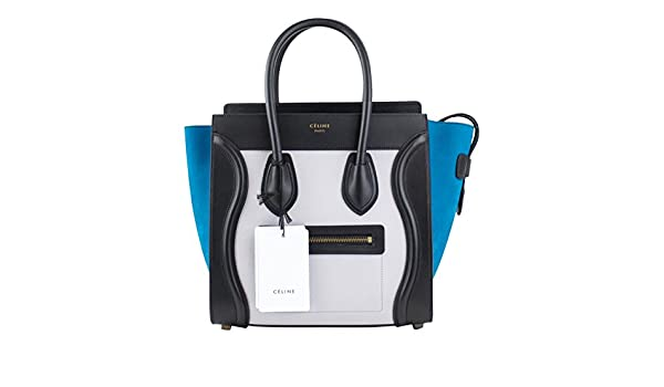 afe64a0bae Amazon.com  Celine Multi-Color Leather Micro Luggage Shoulder Handbag  Baby