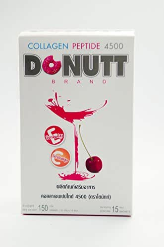 Collagen Peptide 4500 (DONUTT Brand) Collagen Peptide Vitamin C and Vitamin E Coenzyme Q10 L-Cysteine Pineapple Extracts