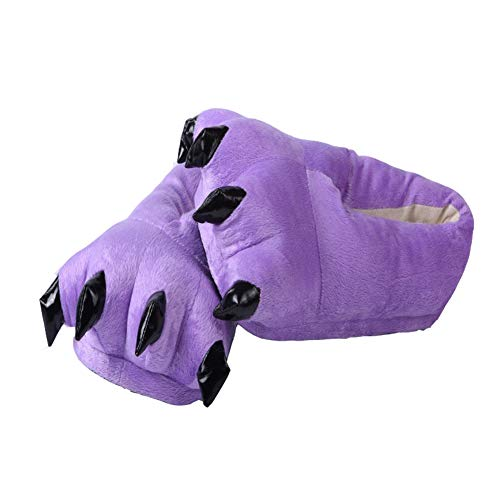Winter Dinosaur Claw Plush Shoes Warm Soft Paw