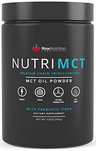 NutriMCT: MCT Oil Powder Ketogenic Supplement (Medium Chain Triglycerides, Coconuts) for Ketone Energy. Keto Friendly Fat Source for Sustained Energy and Fat Burn, Perfect for Coffee and Smoothies
