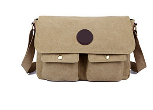Männer Vintage-Canvas Schulter- Messenger Taschen Laptop Schulranzen Tasche Sport,D-OneSize