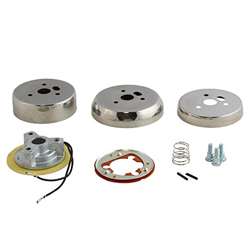 3-Hole Polished Hub Adapter Installation Kit B01 for Aftermarket Steering Wheels