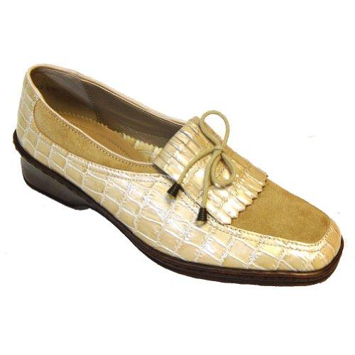 ara Womens Reggio Sand - 6 G (Suede Ara Loafers)