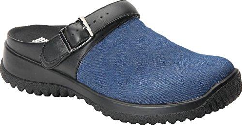 Trok Schoen Savanne Vrouwen Therapeutische Diabetische Extra Diepte Schoen Canvas Gesp Blauwe Denim Stof
