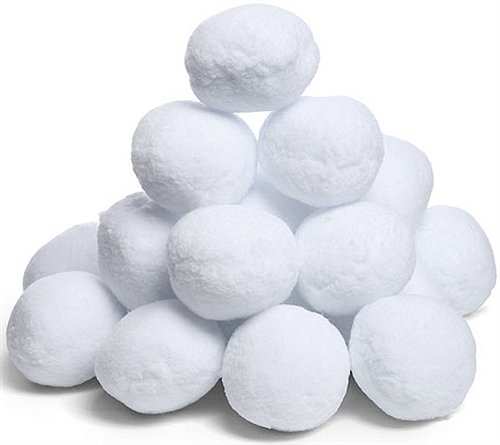 Fake Snowballs for Indoor or Outdoor Play: Soft & Realistic All Weather Artificial Snowballs for Any Season - Fun for Kids & Adults - Great for a Snowball Fight, Games & Snow Decorations - 20 Pack