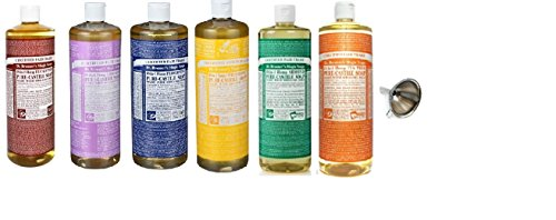 Price comparison product image Dr. Bronner's Pure Castile Soap Ultimate Rainbow 6 Variety Pack, 32 oz