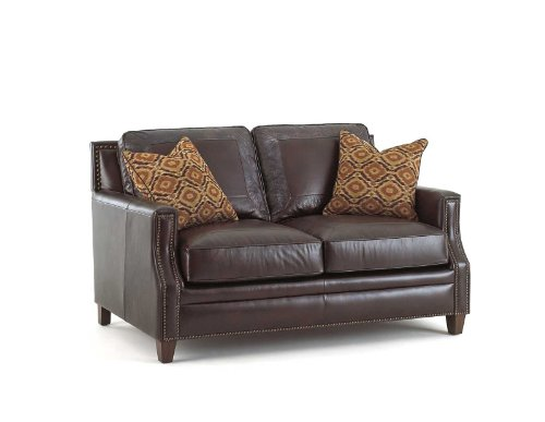 Steve Silver Company Caldwell Loveseat with Two Accent Pillows, 63 x 41 x 39