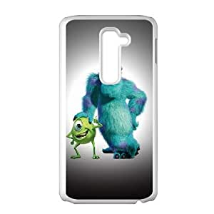 Durable Hard cover Customized TPU case Monsters Inc LG G2 Cell Phone Case White
