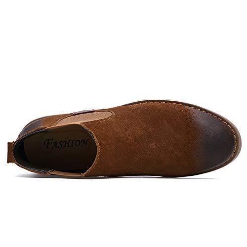 En 2018 shoes Eu Polonaise 39 Option Marron Hiver color Fourrées Marron Chics Bottes Chelsea Pour À Polies classique La Rétro Cheville Hommes Taille Dundun Sqn5aWCB4q