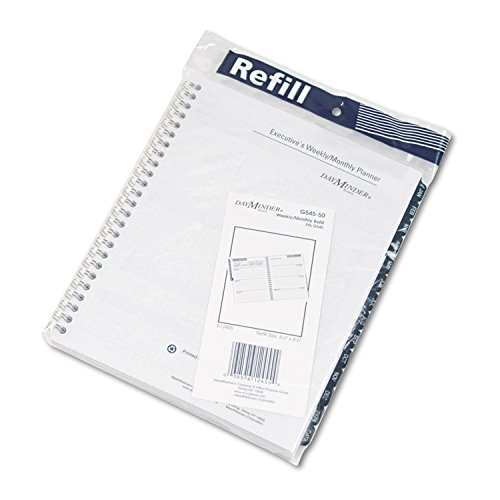 At-A-Glance Dayminder Recycled 6 7/8 x 8 3/4 Inch Weekly/Monthly Refill for G545 for 2010