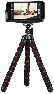 10 pulgadas de gran Pulpo trípode flexible articulaciones para smartphone teléfono con clip: Amazon.es: Electrónica