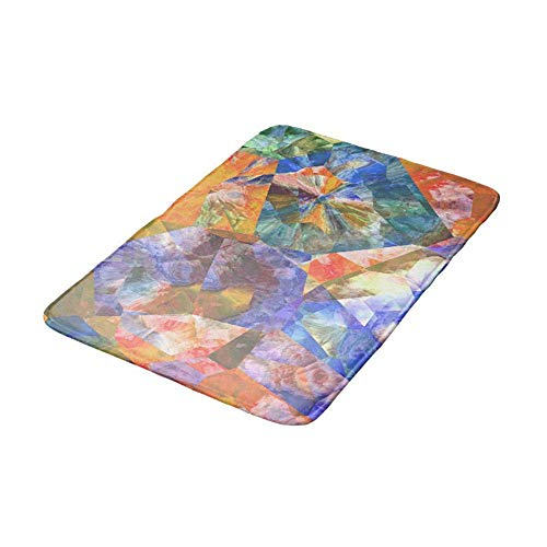 Nick Thoreaufhed Artistic Stylish Colorful Polygon Mosaic Pattern Doormat BathDoor Mat 16 x 24 inch
