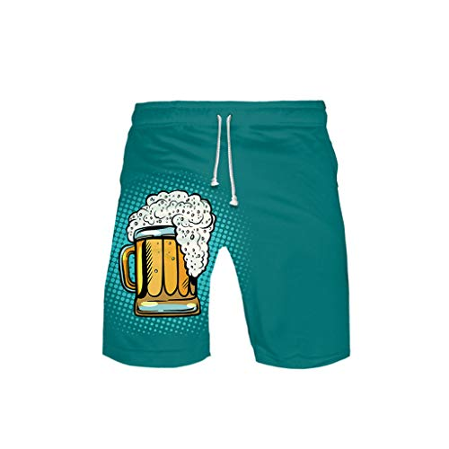 Togethor Women's German Costumes Bavarian Oktoberfest Carnival Halloween3-D Printed Beer Festival Leisure Beach Pants Mint Green