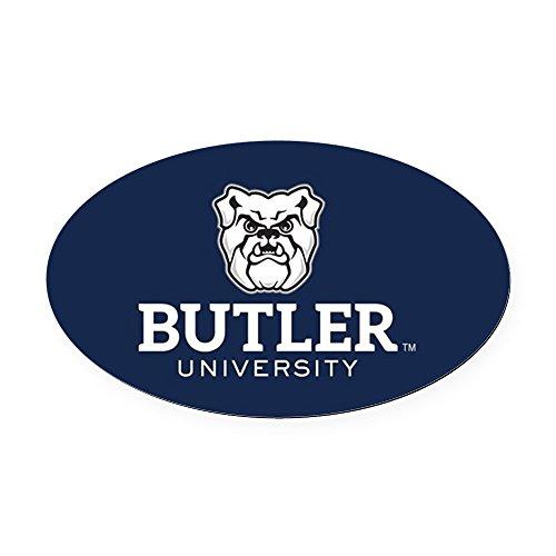 (CafePress - Butler University Bulldog - Oval Car Magnet, Euro Oval Magnetic Bumper)
