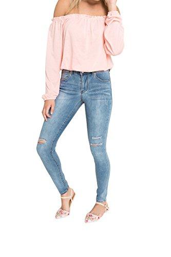 Ardene – Women's – Skinny Jeans – Ripped Denim Skinny Jeans 1 -(8A-AP00655)