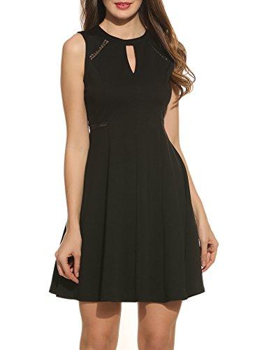 Acevog Women's Sleeveless A-line Lace St - Sleeveless Keyhole Dress Shopping Results