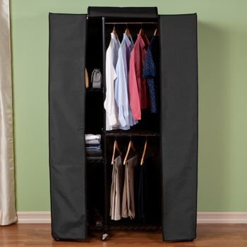 Tiered Garment Storage Rack With Heavy Duty Zippered Cover Provides Extra Closet Space Saver Great for Suits, Shoes, Sweater, Hangers by Seville Classics
