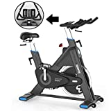 L NOW Indoor Cycling Bike Stationary- Belt Drive Exercise Bike Smooth Quiet 44LBS Flywheel