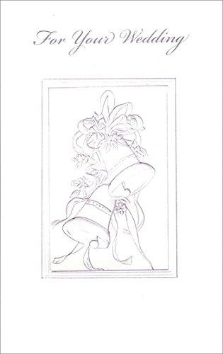 White Embossed Wedding Bells - Freedom Greetings Wedding Card