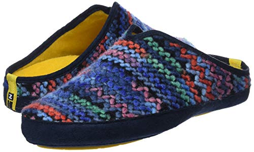 Sul zafiro Aperte Nordikas Multicolore Donna azul 002 Wash Retro Pantofole Aqnnwg7vp