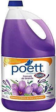Poett Poett Limpiador Desinfectante De Pisos Aroma Lavanda 4 Lt, color, 4 L, pack of/paquete de