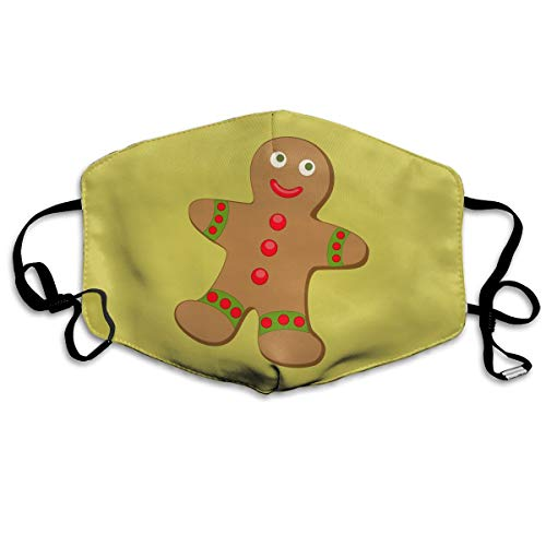 - Christmas Gingerbread Breathable Mouth Masks Cover for Men Women Dustproof Anti-Bacterial Reusable Windproof Thermal Mask Respirator
