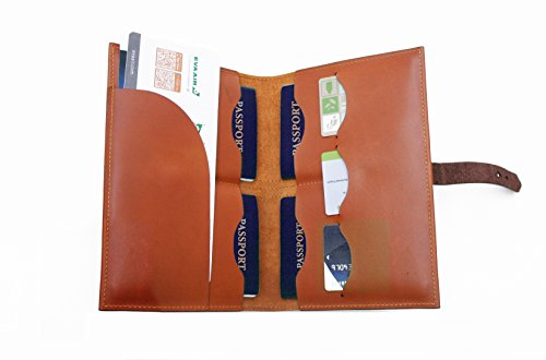 Handmade Curious Family Passport Holder - Leather Travel Multiple Passports Wallet by Handmade Curious (Image #2)