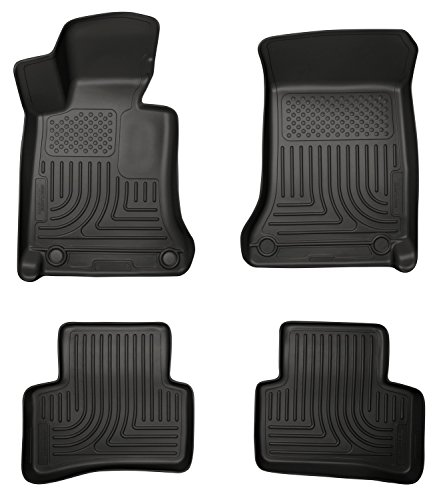 Husky Liners Front & 2nd Seat Floor Liners Fits 08-14 Mercedes C-Class 4 Door