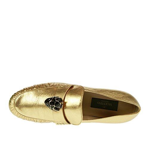 Valentino Con 38 5 Applicazione Mocassino Oro rwBEqrg
