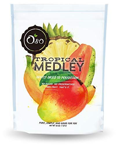 Oso Snacks - Tropical Dried Fruit Medley - No Added Sugar or Preservatives - 26oz